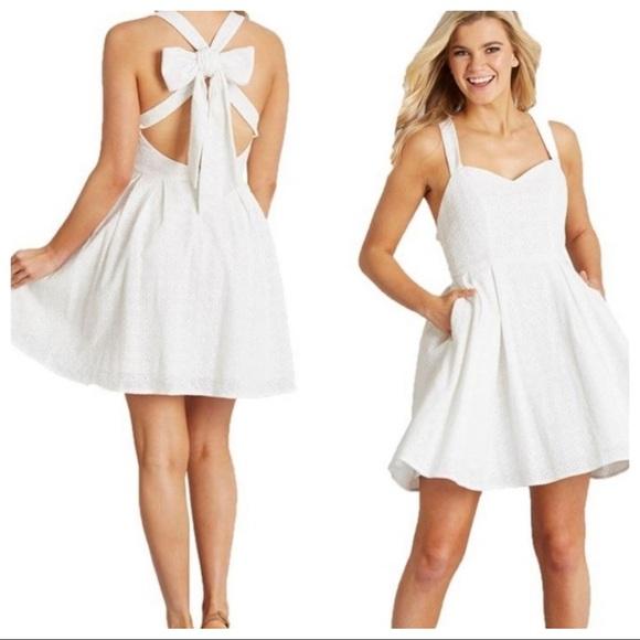 Lauren James Dresses & Skirts - Lauren James Livingston Oxford Dress White New XS